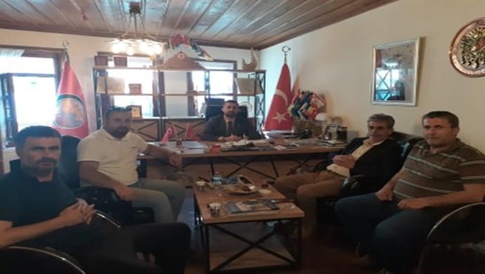 Abdülhamit Basrali `den Turgut Başdaş `a Anlamlı Ziyaret