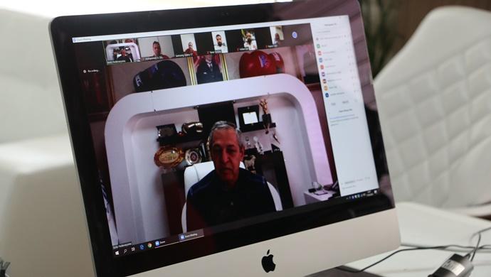 Gözgeç ,Boks milli Takım Teknik Heyetiyle online toplantı yaptı
