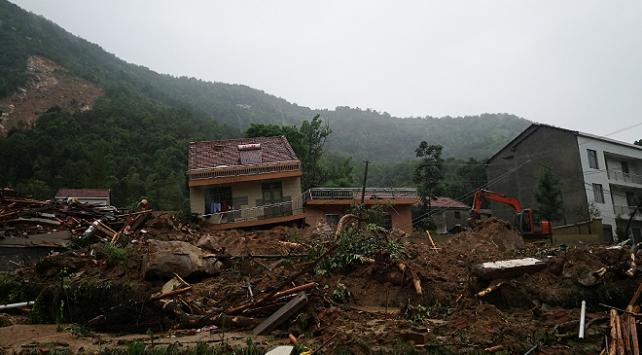 Çin'de toprak kaymasında 9 kişinin kaybolduğu