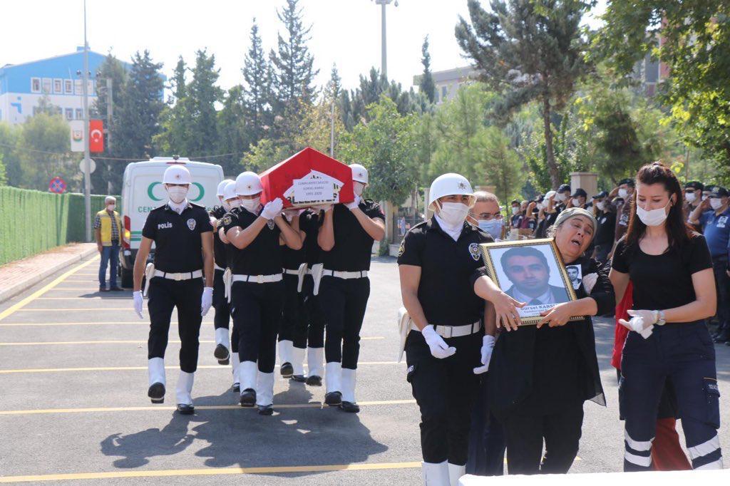 Vefat eden savcı için tören düzenlendi