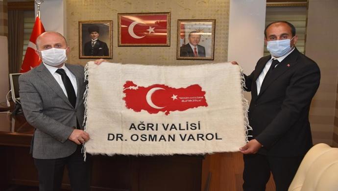 Başkan Samancı `dan Ağrı Valisi Varol `a Ziyaret