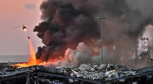 Lübnan `da Patlamada 2 bin 750 ton amonyum nitrat infilak etti