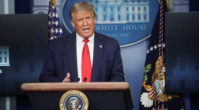 Trump, Beyaz Saray'da basın toplantısında Açıklama yaptı