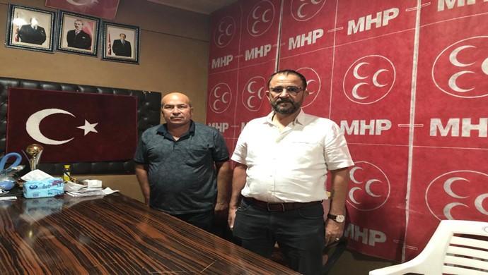 Cevdet Yıldırım, MHP Elbeyli İlçe Başkanı İsmet doğan `ı ziyaret etti