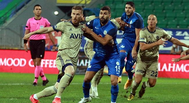 Fenerbahçe Rize'de kazandı