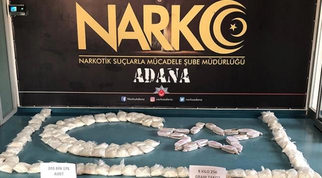 Adana'da 205 bin uyuşturucu hap ele geçirildi