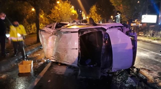 Şişli'de meydana gelen trafik kazasında 4 kişi yaralandı