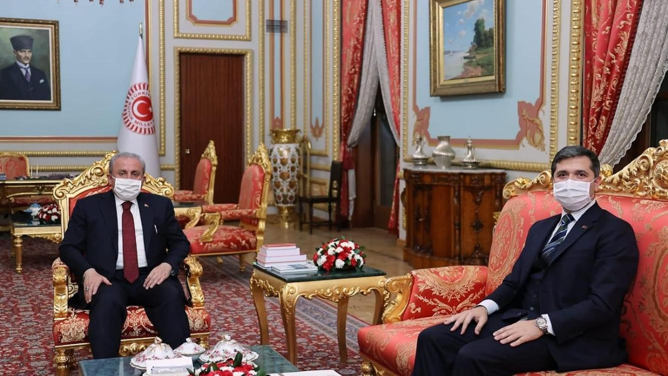 İstanbul Milletvekili Zafer Sırakaya, TBMM Başkanı Prof. Dr. Mustafa Şentop'u Mecliste Ziyaret etti