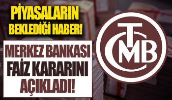 Merkez Bankası ekim ayı faiz kararını açıkladı!
