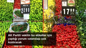 AK Partili milletvekili, 1 kilo domatesin 22.95 TL'ye satılmasını normal karşıladı